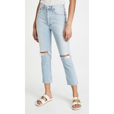 AGOLDE Girl's Riley High Rise Straight Crop Jeans Clear Skies on sale near me SZOP745